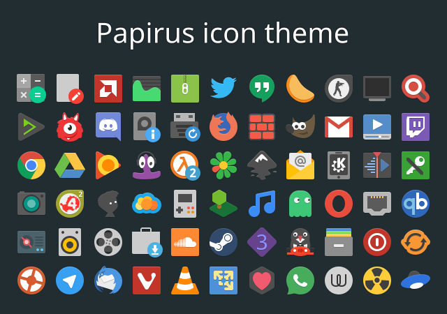 Papirus icons theme