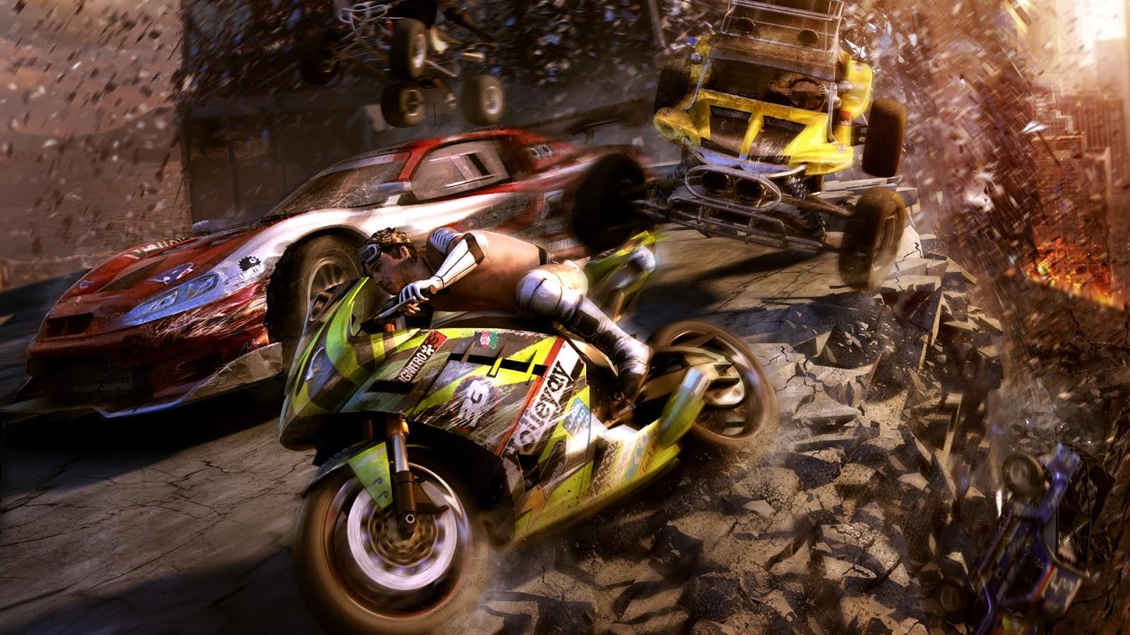 Fondos De Pantalla Carreras Proibidas: Fondo De Pantalla Juegos Carrera De Motos, Coches