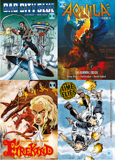 Covers for Bad City blue, firekind, aquila and Time Flies