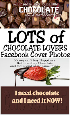 Share your love of chocolate on your Facebook page with these Chocolate Quote Facebook cover photos.  Your friends will think of you every time they see chocolate and soon be sharing sweet treats all the time!