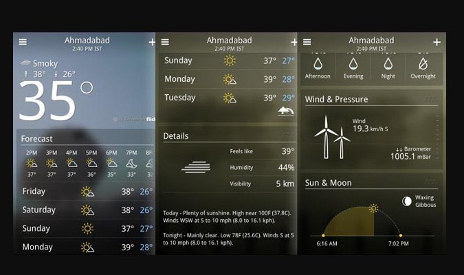Widget Prakiraan Cuaca - Yahoo Weather App
