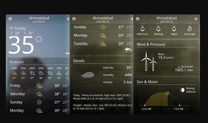 Widget Prakiraan Cuaca - Yahoo Weather App