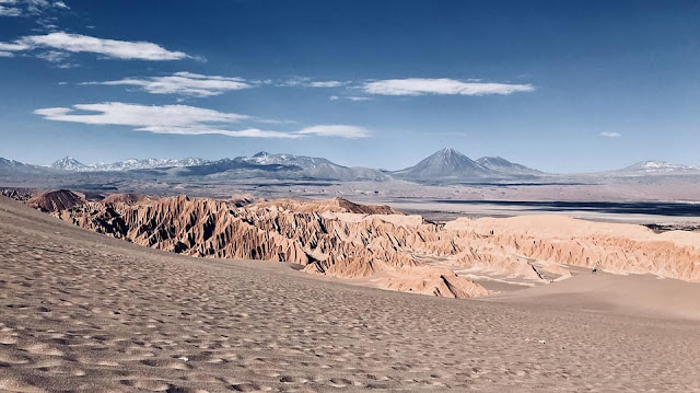 A view of the Atacama Desert, north of Chile.