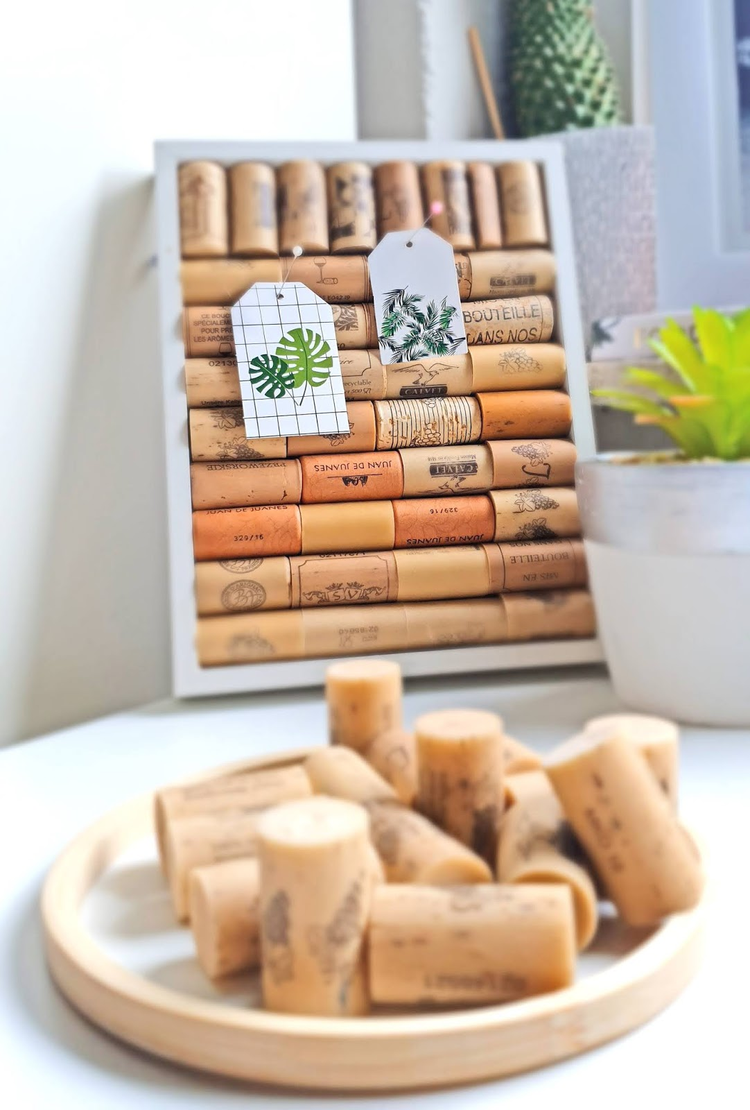 DIY z korków po butelkach od wina