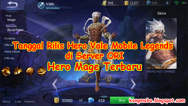 Tanggal Rilis Hero Vale Mobile Legends di Server ORI  Tanggal Rilis Hero Vale Mobile Legends di Server ORI - Mobile Legends