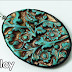 Verdigris Inspired Deep Carved Polymer Clay Pendant Tutorial