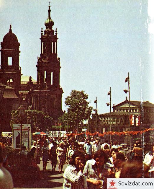 1977. Дрезден, ГДР - Набережная Брюльше террассе