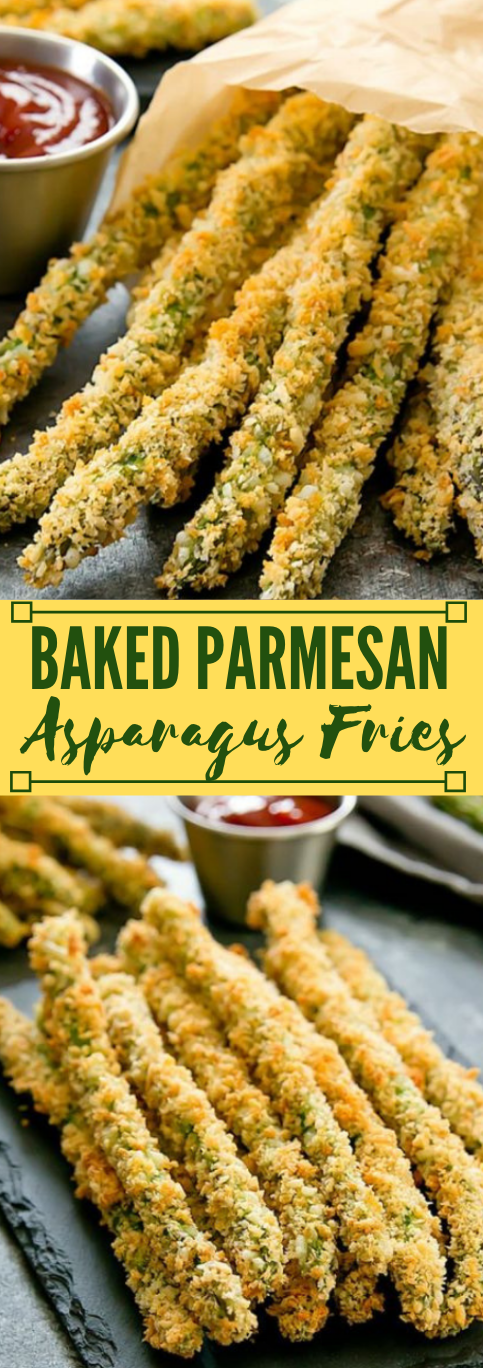 BAKED PARMESAN ASPARAGUS FRIES #dinner #parmesan #asparagus #recipes #yummy