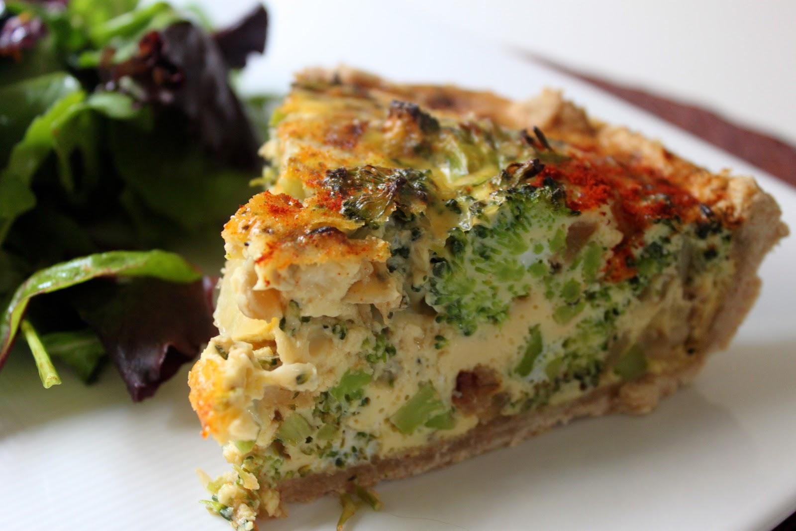Domestic Divas Blog: Broccoli Cheddar Quiche