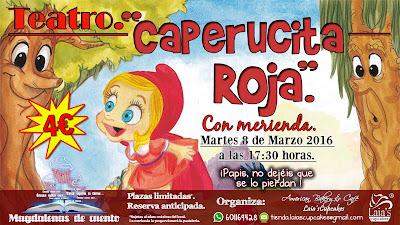 Eventos celebraciones teatro merienda cupcakes niños caperucita roja Laia's Cupcakes Puerto Sagunto
