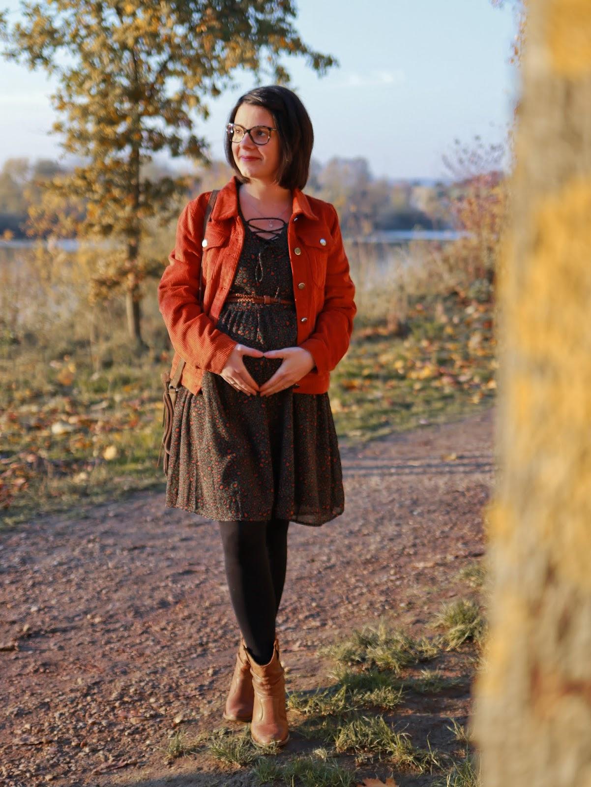 avis lookiero test essayage haul ootd outfit personnal shopper motif léopard velours cotelé grossesse maternité les gommettes de melo