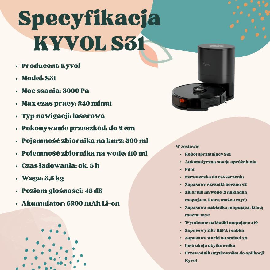 Specyfikacja Kyvol S31
