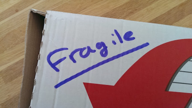 fragile post box