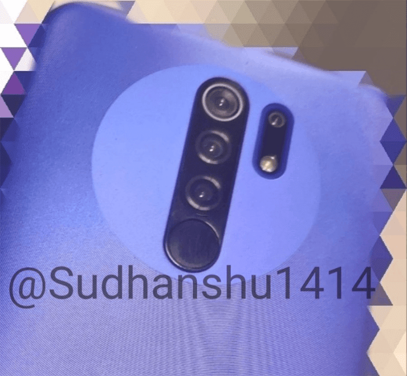 Live image of Redmi 9 appears with a quad-camera system