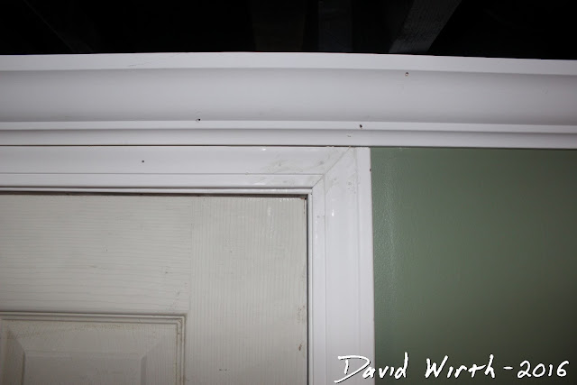 door frame and crown molding, how to blend wood trim