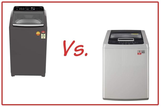 Whirlpool Royal Plus (left) and LG T7585NDDLGA (right) Washing Machine Comparison.