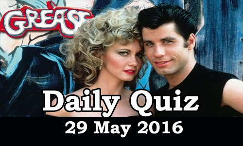 Daily Current Affairs Quiz - 29 May 2016