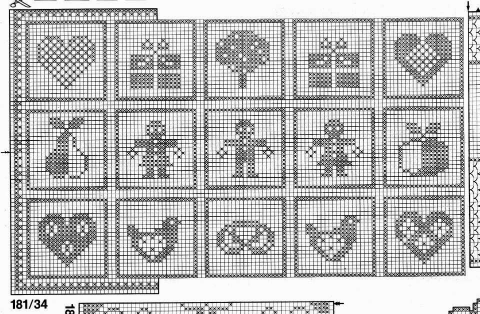 Conosciuto Hobby lavori femminili - ricamo - uncinetto - maglia: Filet GI85