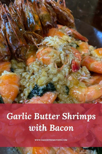 How to make garlic butter shrimps with bacon