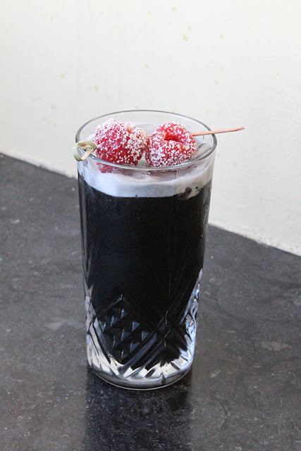 12 Cocktails of Christmas Mark Hopkins Nutcracker | Santa Activated Charcoal Coal Cocktail | Will Bake for Shoes