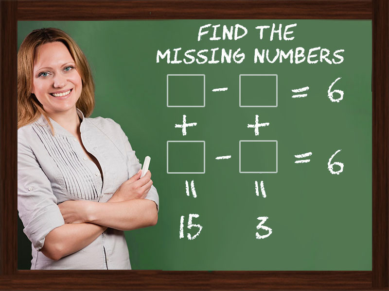Picture Missing Number Puzzle