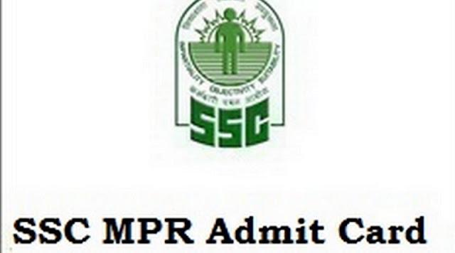 SSC MPR Admit Card