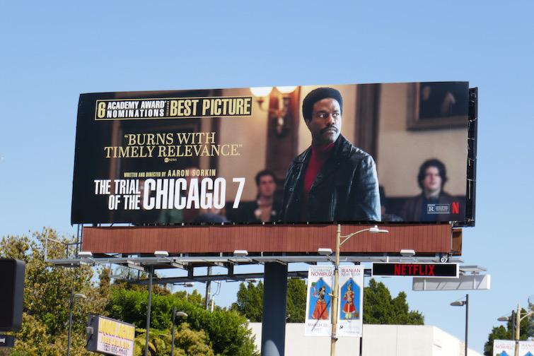 Trial of Chicago 7 Oscar nominee billboard