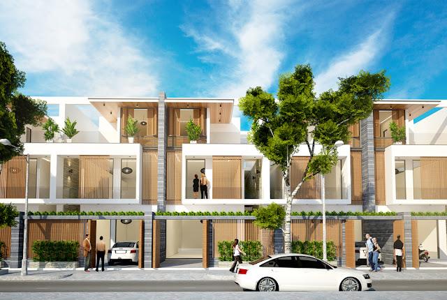 Mẫu thiết kế shophouse dự án Green City