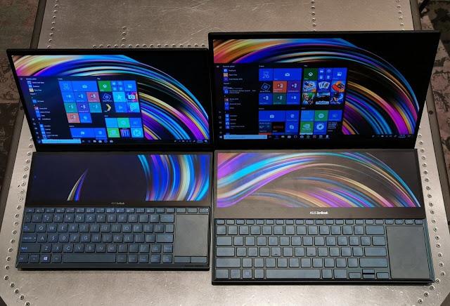 شركة Asus تقدم حاسوبها المحمول Asus ZenBook Pro Duo الجديد المدهش يحتوي على شاشتين 4K
