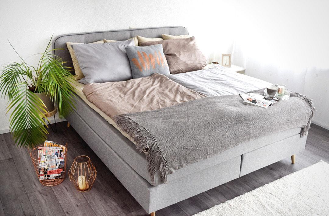 boxspringbett flauschteppich von otto mein traum raum werbung die edelfabrik der 40. Black Bedroom Furniture Sets. Home Design Ideas