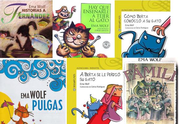 Libros de Ema Wolf. Historias con gatos