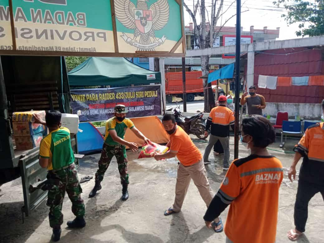 Yonif PR 433 Kostrad Kirim Bantuan Untuk Korban Gempa di Majene dan Mamuju Sulbar