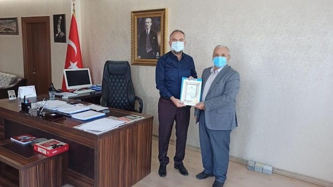 Türkiye Diyanet Vakfı'ndan Zile Belediyesi'ne Teşekkür Belgesi