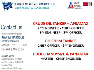 85 list of urgent job hiring for seaman in Philippines join October - November - December 2018