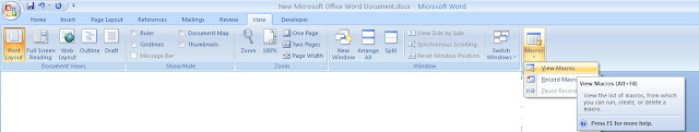 Macro editor- Write macro to automate