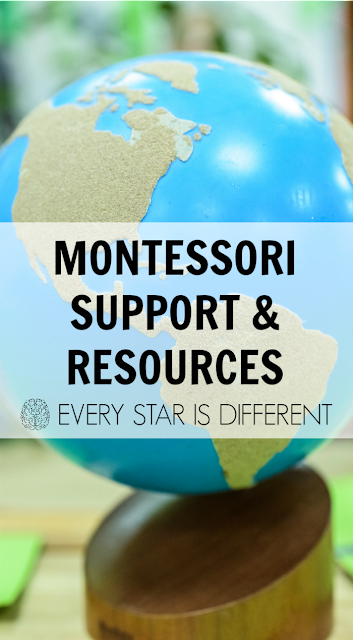 Montessori Support & Resources from Every Star Is Different