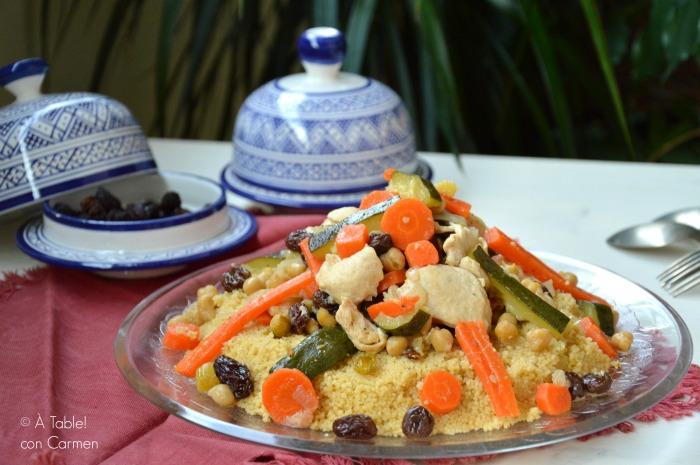 Cocinar Couscous | Cous Cous De Pollo Y Verduras A Table Con Carmen