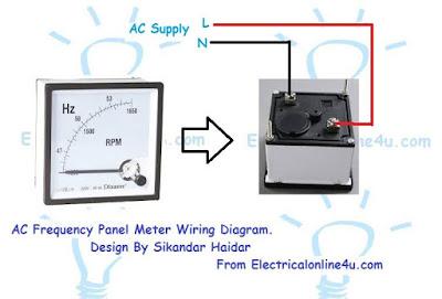 frequency meter Hz meter wiring