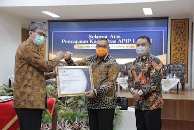 Inspektorat Riau Raih Penghargaan Dari BPKP Pusat