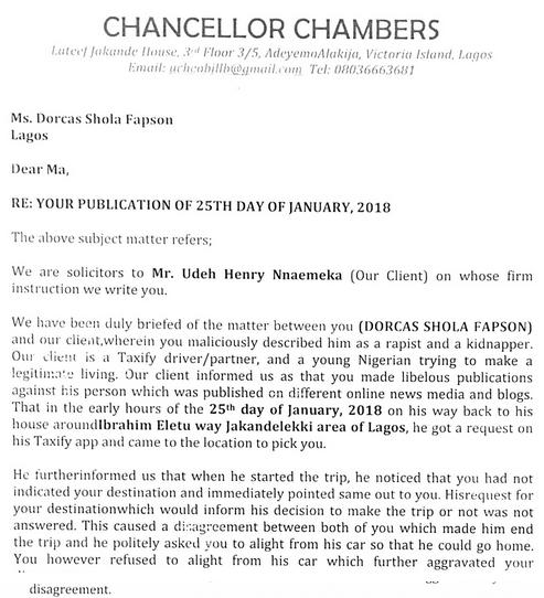 Dorcas-Shola-Fapson-Taxify-driver-lawsuit