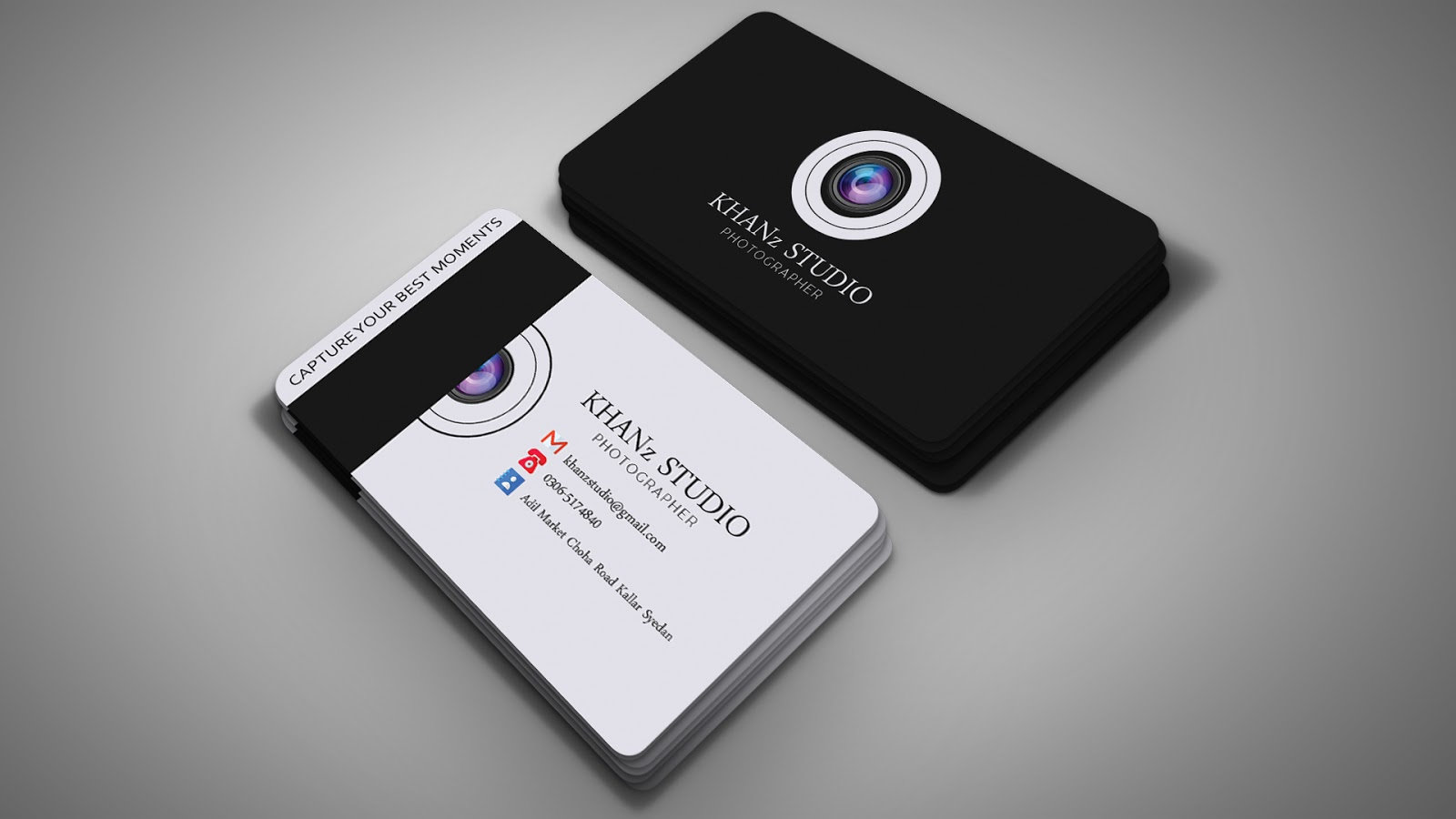 professional photography business card design  photoshop