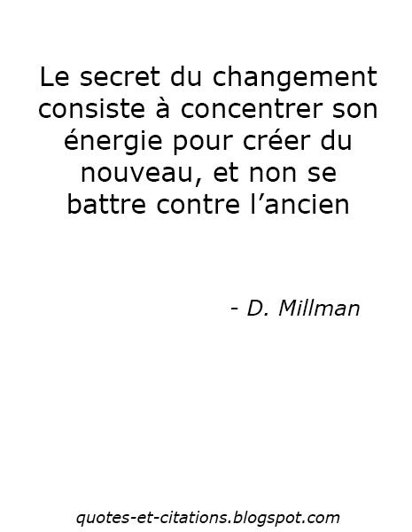 citation le secret du changement