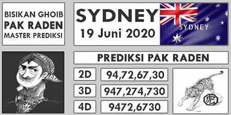 Syair Sydney Jumat 19 Juni 2020 - Pak Raden