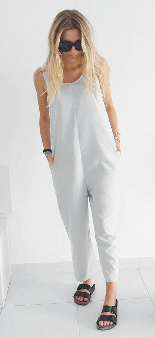 casual style addict: jumpsuit + flip-flop