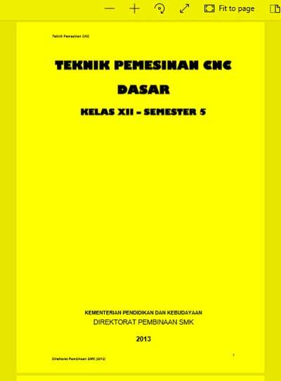 Buku Siswa Teknik Pemesinan CNC Dasar SMK Kelas 12 (XII) Semester 5 Kurikulum 13