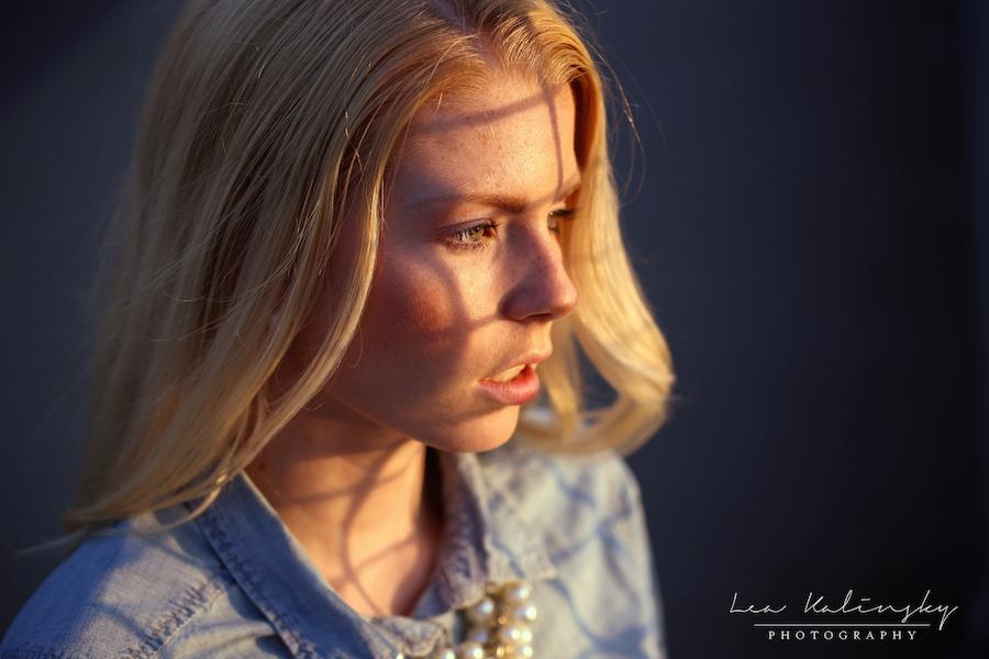 Portrait mit Schatten