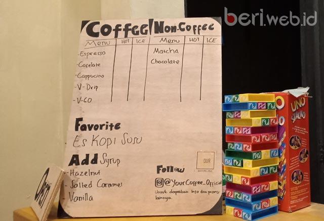 Kisah tentang bisnis mahasiswa memang selalu menginspirasi. Your Coffee adalah salah satu karya buah pikiran mahasiswa yang melirik peluang bisnis gaya hidup kalangan menengah ke atas di Kota Idaman.