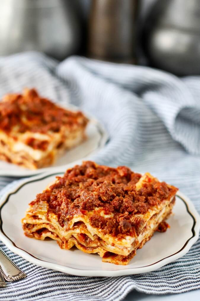 Lasagna Bolognese slice