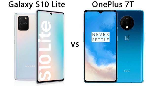 المقارنة بين الهاتفين سامسونج جالاكسي إس 10 لايت (Galaxy S10 Lite) ووان بلس 7 تي (OnePlus 7T).