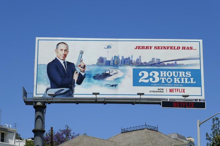 Jerry Seinfeld 23 Hours to Kill billboard